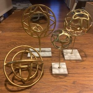 Accents - Four piece gold and marble decor